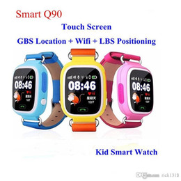 clocks for kids Canada - Hot sale Q90 Bluetooth Smart watches for Android Phones iPhone kid smart watch with fitness tracker GPS WiFi LBS Wear Clock Wearable Dev