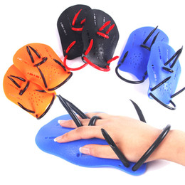Swimming Gear Kids Australia - New Professional Swimming Paddles Training Silicone Hand Gloves Fins Flippers For Adults Kids Swim Gear shop