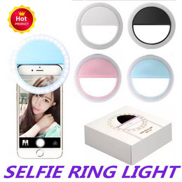 smartphone photography UK - 2019 New USB Charge Selfie Portable Flash Led Camera Phone Photography Ring Light Enhancing Photography For iPhone Smartphone