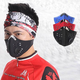 dust masks bicycle NZ - Bike Mask Ski Helmet racing balaclava Super Anti Dust Motorcycle Bicycle Cycling Racing Bike Ski Half Face Mask Filter
