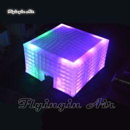 La iluminación exterior inflable del cubo Carpa Cubierta personalizada Jardín Blanca Pop Up marquesina estructura de la tienda para hacer publicidad de eventos del partido y en venta