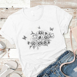 female graphic tees Australia - Women Shirt Womens Batterfly Cute Fashion Laides Summer Mujer Camisa Top Tshirt Graphic Clothing Tees Female Printed T-shirt
