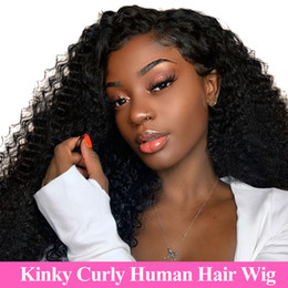 $enCountryForm.capitalKeyWord Australia - Malaysian Kinky Curly Full Lace Human Hair Wigs For Black Women 150% Density Afro Kinky Curly Human Hair Wig Full Lace Curly Hair