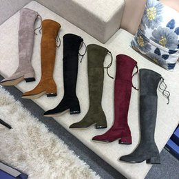 sexy style high knee boots Australia - Classic European Style woman Shoes, Ladies'Shoes,Over the knee boots, sexy boots Stitching low heel real leather sexy boots ,huahui