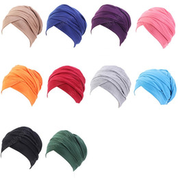 indian cotton wholesalers UK - 2020 Hot Sale Luxury pleated Cotton magic Turban hijab Head Wrap Extra Long tube indian Headwrap Scarf Tie