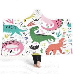 $enCountryForm.capitalKeyWord Australia - Cartoon Hooded Blanket For Home Travel Picnic 3D Printed Soft Plush Portable Blanket Wearable Warm Throw For Adults Kids