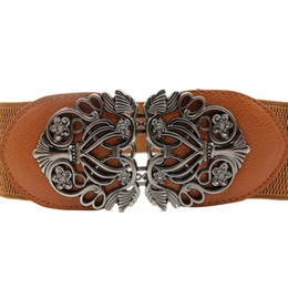 Band Belts UK - popular new arrival Women Wide Waist Band Girdle Stretch Belt sexy casual Flower decoration Free shipping #N05