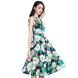 $enCountryForm.capitalKeyWord NZ - Marina Kaneva Plus Size M-4XL dress Summer 2018 New vestidos Women Beach Long Dresses Round neck sleeveless Female Europe Americ