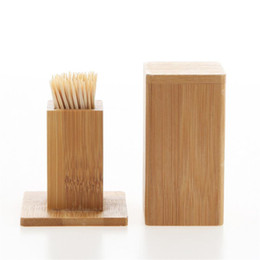 $enCountryForm.capitalKeyWord Australia - New Bamboo Toothpick Box With Lid Square Tank Toothpick Holders Bamboo Wood Home Kitchen Tools Toothpick Holder 2312c