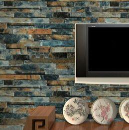 $enCountryForm.capitalKeyWord Australia - stone brick 3D wallpaper roll modern vintage wall paper pvc vinyl covering for bedroom live room TV Background Wallpaper