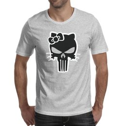 4dcbc486a Punisher Skull Men's Tops Tees Graphic Summer Cotton Round Neck Shirts Man  Gym T Shirt Vintage T Shirts for Man