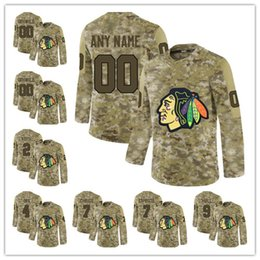 d994dd41d Custom 2019 Camo 7 Brent Seabrook 20 Brandon Saad 9 Bobby Hull Mens Any  number Any name Chicago Blackhawks hockey stitched jersey