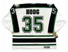 dallas black jersey UK - ANDY MOOG Dallas Stars 1990 s CCM Vintage Turn Back Hockey Jersey All Stitched Top-quality Any Name Any Number Any Size Goalie Cut