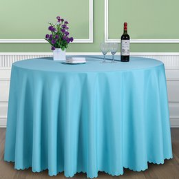 $enCountryForm.capitalKeyWord Australia - Solid Color 100% Polyester Round Cover Fabric Square Dining Table Cloth Tablecloth Hotel Office Wedding Booth Setting Q190603