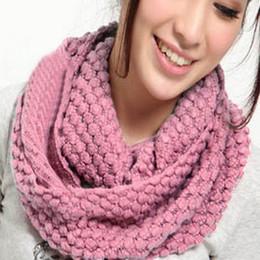 $enCountryForm.capitalKeyWord Australia - 2018 Fashion Auturm Winter Womens 2 Circle Warm Knitted Cowl Neck Scarf Shawl Gift Corn Cable Thick Scarf Wrap Scarves Bufandas