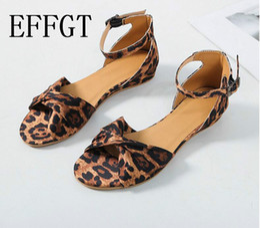 Leopard Sandals Australia - EFFGT Leopard Print Flat Heel Women's Sandals 2019 Summer Women Shoes Casual Shoes Fashion Sweet Sandals C499