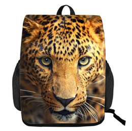 animal lions Australia - 3D animal pattern 3D backpack Men and women Large capacity tiger crocodile lion pattern Creative student backpack handbag