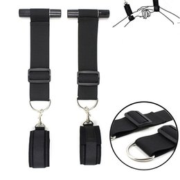 Wholesale Women Lingerie Sexy Handcuffs Wrist Tied Hand BDSM Bondage Set Adult Erotic Rope Swing Chairs Hanging Door Sex Toys Hanging handcuffs