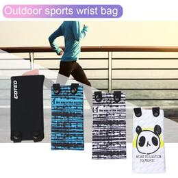 $enCountryForm.capitalKeyWord Australia - 7Inch Running Bag Sports Wrist Bags Elastic Cartoon Arm Band Mobile Phone Case Cover With Headphone Hole For Gym Run Fitness Bag