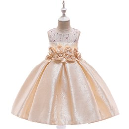 $enCountryForm.capitalKeyWord Australia - Girls Dress Kids Pageant Flower Princess Party Dresses Nail bead Embroider Costume Beauty dress Stage performance Rose