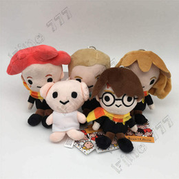 $enCountryForm.capitalKeyWord Australia - 2019 New Harry Potter Stuffed plush dolls toys Ron Dobby Hedwig Keychains Pendants Soft Gifts Plush Toys