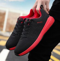 867af9263ae Men s Shoes Fashion Flying Weave Sports Shoes Spring 2019 New Korean Version  Baitao Leisure Breathable Light Running Shoes