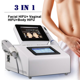 Discount face slimming equipment - 3 in 1 Hifu Slimming Machine Vaginal tightening Device wrinkle removal face lifting skin rejuvenation hifu Equipment