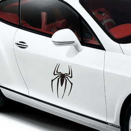 Wholesale Fashion Creative Car Styling Sticker super hero spider Vehicle Headlight Decorative Sticker On Car