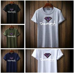 399b7aac38 Designer print Diamond men short sleeve t shirt skate fashion brand  clothing male hip hop camisetas mens tops streetwear tee shirt homme