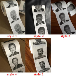 wholesale rolling papers free shipping Australia - Novelty Donald Trump Toilet Paper Roll Fashion Funny Humour Gag Gifts 3 style free shipping