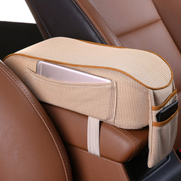 car central armrest 2019 - With Pocket Support Central Console Cushion Heighten Car Armrest Box Pad Universal Soft Cover Ergonomic Memory Foam Inte