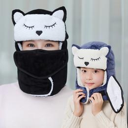 Cartoon skull Caps ears online shopping - cartoon Warm Winter hat Mask Earflap Ski Hat Hiking kids adult Winter Warm Ear Flap hat LJJK1776