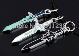 $enCountryForm.capitalKeyWord Australia - Japanese Anime Sword Art Online Asuna Kirito Kazuto Sword Necklace Weapons cosplay props