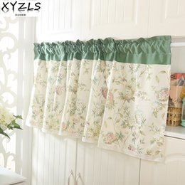 kitchens shops NZ - XYZLS Korean Style Pastoral Shade Kitchen Curtains Coffee Shop Half Curtain Door Cortina Short Panel Drapes Valance