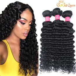 brazilian wavy hair 22 inch 2019 - Malaysian Deep Wave Human Hair Bundles Cheap Malaysian Virgin Hair Deep Wave Wet and Wavy Malaysian Hair Weaves cheap br