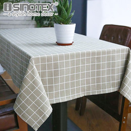 table tablecloths Australia - linen cloth Sytlish Linen Cloth Country Style Plaid Print Multifunctional Rectangle Table Cover Tablecloth Home Kitchen Decoration