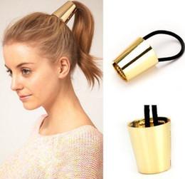 $enCountryForm.capitalKeyWord Australia - New Punk Style Elastic Ponytail Holder Hair Accessories Hair Band Retro Vintage Round Hair Ring For Womens Scrunchy With Box