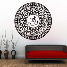 Interior Wall Stickers Australia - 1 Pcs Promotion Indian Mandala Wall Decals Removable Vinyl Sticker House Interior Design Art Murals Home Decor