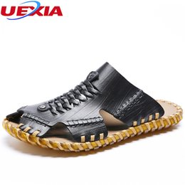 $enCountryForm.capitalKeyWord Canada - UEXIA New Fashion Summer Beach Breathable Men Sandals Sneakers Cool Leather Men's Sandals Man Casual Shoes Handmade Comfortable