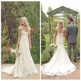 $enCountryForm.capitalKeyWord Australia - 2019 New Cheap Lace Sweetheart Sheath Beach Country Wedding Dresses Bridal Gowns Modest Plus Size Wedding Gowns South Africa