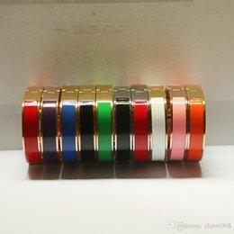 Ingrosso 316L acciaio al titanio 12mm polsini di lusso bracciale con ciondoli braccialetto dello smalto del polsino del braccialetto H buona fibbia braccialetti da sposa per il regalo delle donne