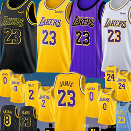 0409008c229c 23 LeBron James Los Angeles Laker Jersey New Lonzo 2 Ball Kyle 0 Kuzma  Brandon 14 Ingram Embroidery Basketball Jerseys Cheap sales