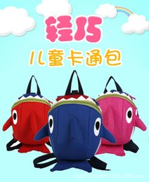 Cute anime baCkpaCks online shopping - Kindergarten plush bag child anti lost package small shark baby backpack Cute Waterproof for Girls Boys Animal School Bags