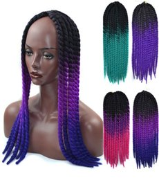synthetic hair wholesalers NZ - Havana Mambo Twist Crochet Braids Hair Wig 22inch 90g pack Ombre Synthetic Kanekalon Senegalese Twist Braiding Hair FZP171