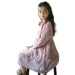 Chinese  lace long dress age for 4 -14 yrs teenage girl princess costume winter big girls elegant party frocks for girls children clothes manufacturers
