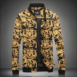 $enCountryForm.capitalKeyWord NZ - 2019 Luxury Designer Fashion Mens New Famous Brand Printed Men's Jacket Tide Baseball Uniform Mens Designer Jackets Plus Size M-5XL