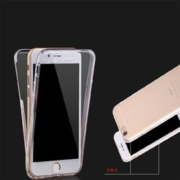 Transparent Iphone Front Back NZ - For iPhone X 8 7 Case Ultra Thin 360 Full Body Protective Cases Soft TPU Gel 2 in 1 Front and Back Cover Full body case