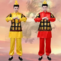 chinese qing 2019 - Ancient Soldier Costume Male Traditional Hanfu Costume Drama Cosplay Performance Chinese Tang Qing Folk Clothes DL4149 c