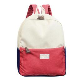$enCountryForm.capitalKeyWord NZ - Hit Color Unisex Backpack Canvas Student Shoulder School Backpack Casual Women Men Travel Rucksack