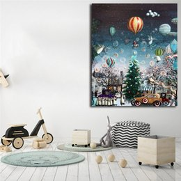 Painting Trees Watercolor Australia - Chriatmas Tree Landscape Canvas Posters Prints Wall Art Painting Decorative Picture Modern For Living Room Bedroom Home Decoration